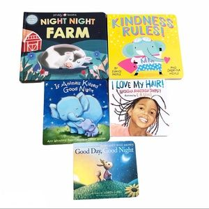 5 Toddler Baby Board Books Bundle Kindness Rules